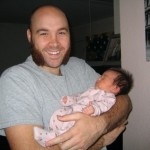 Happy Dad and his new baby girl, Sadie
